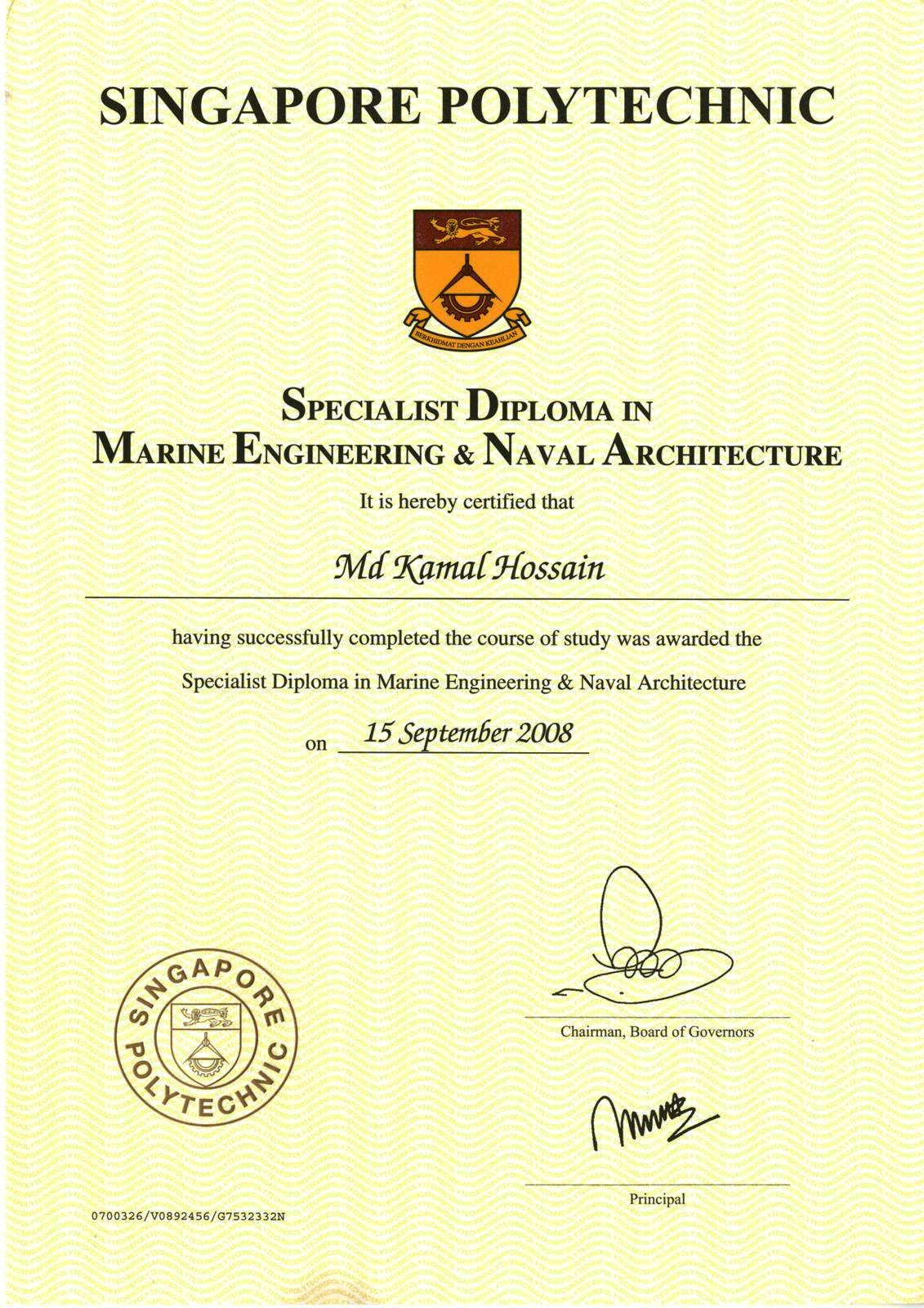 Advanced Diploma Certificate Smena Hossain Md Kamal Imareng